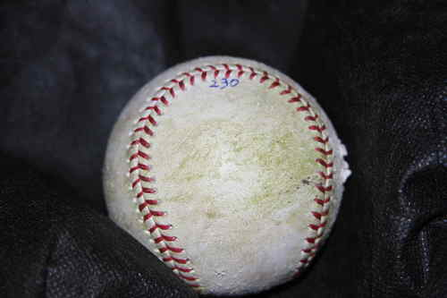 Rusty Kuntz Emtremely Beaten Up Baseball