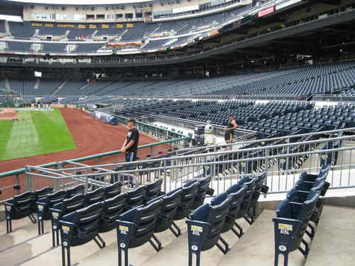Empty Seats along Foul Line