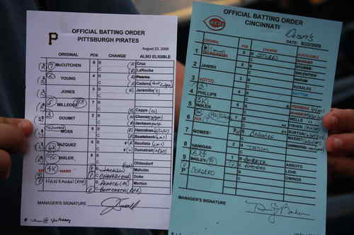Dusty Baker Line-Up Cards