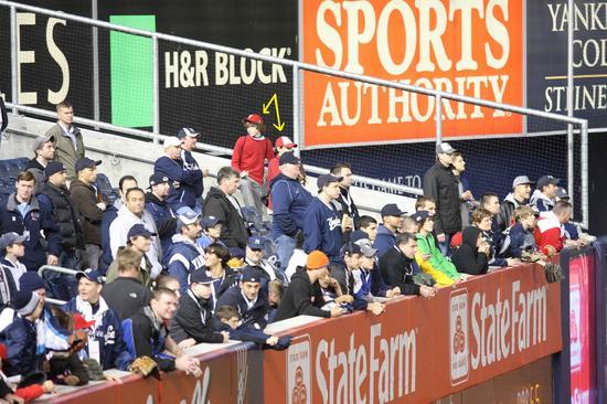 Alex, Joe and the crowd