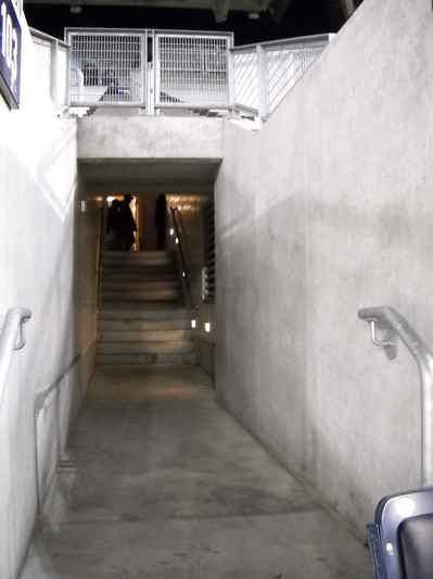 Railings in Tunnel