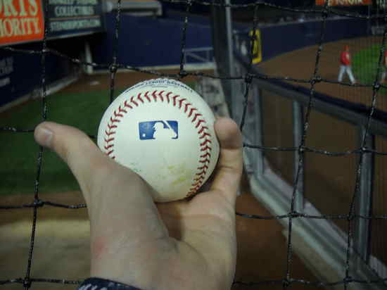 Baseball from Phillies Bullpen Catcher (11/4/09)