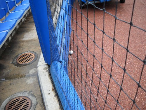Ball behind Home Plate