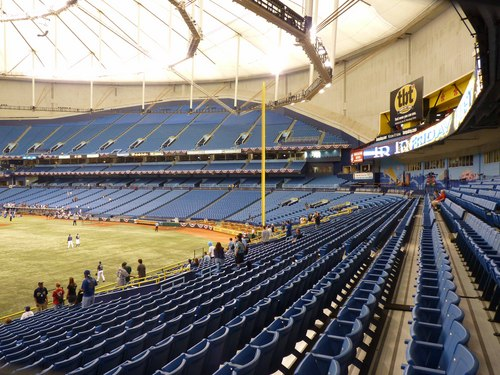 Empty Outfield Seats in the Trop