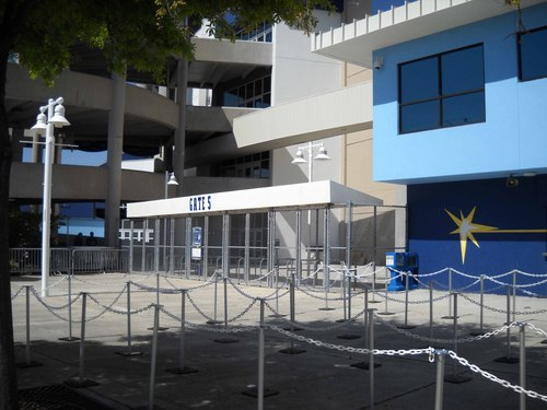 Gate 5 at Tropicana Field